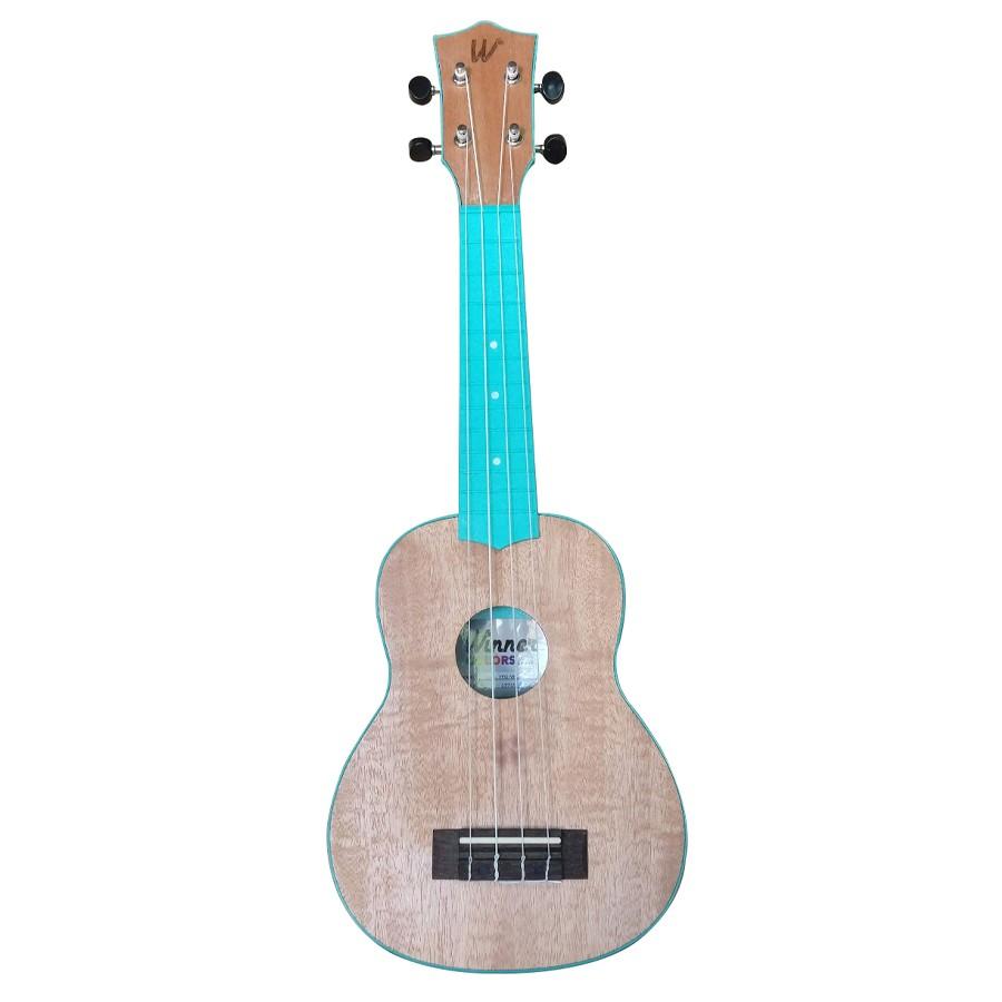 Ukulele Soprano 21 ABS Tampo Tipo Flamed Okume Verde Água Com Capa! - Color Series Winner  - TranSom Áudio e Música