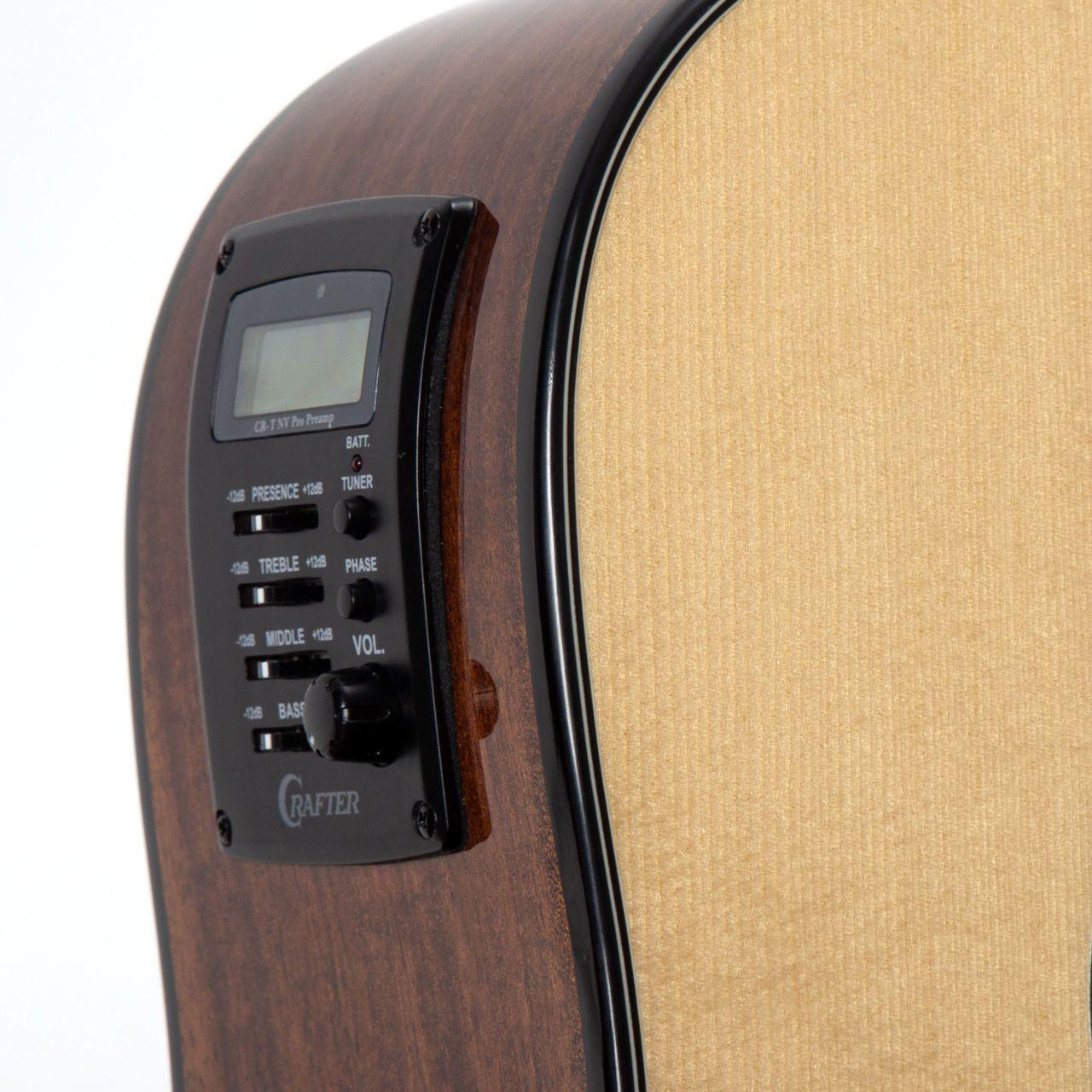 Violão Crafter HD-520 CE/N Folk Cutaway Natural Elétrico  - TranSom Áudio e Música