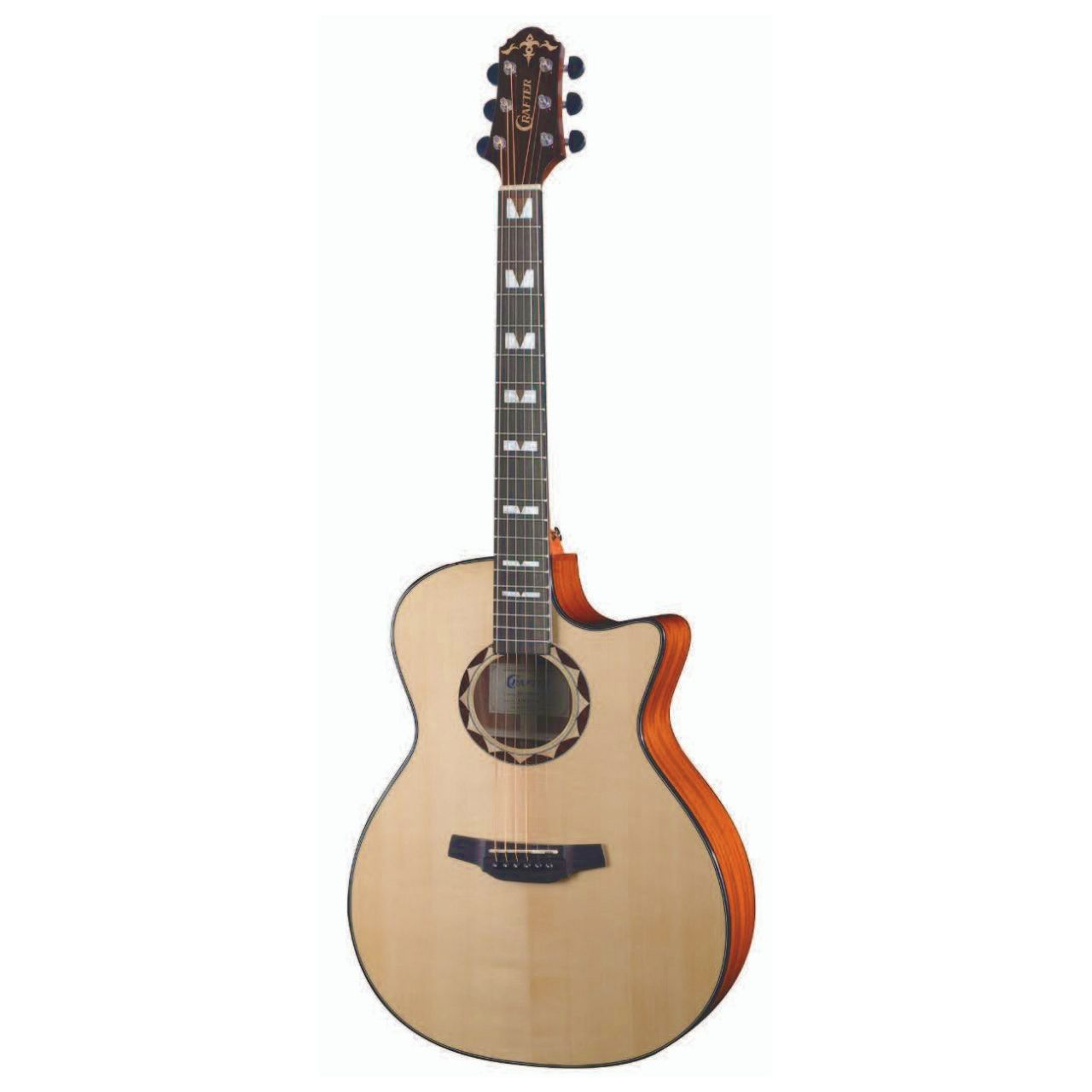 Violão Crafter HG-520 CE/N Grand Audithorium Natural  - TranSom Áudio e Música