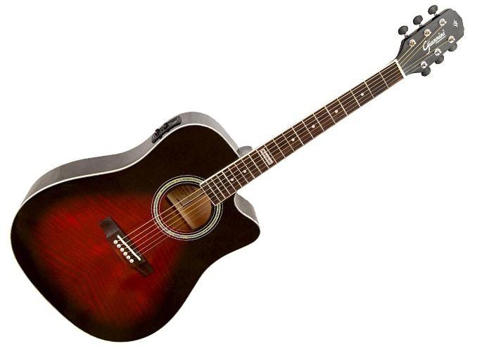 Violão Folk Giannini GF-1D CEQ - Cor Vermelha (Brown Red Burst)  - TranSom Áudio e Música
