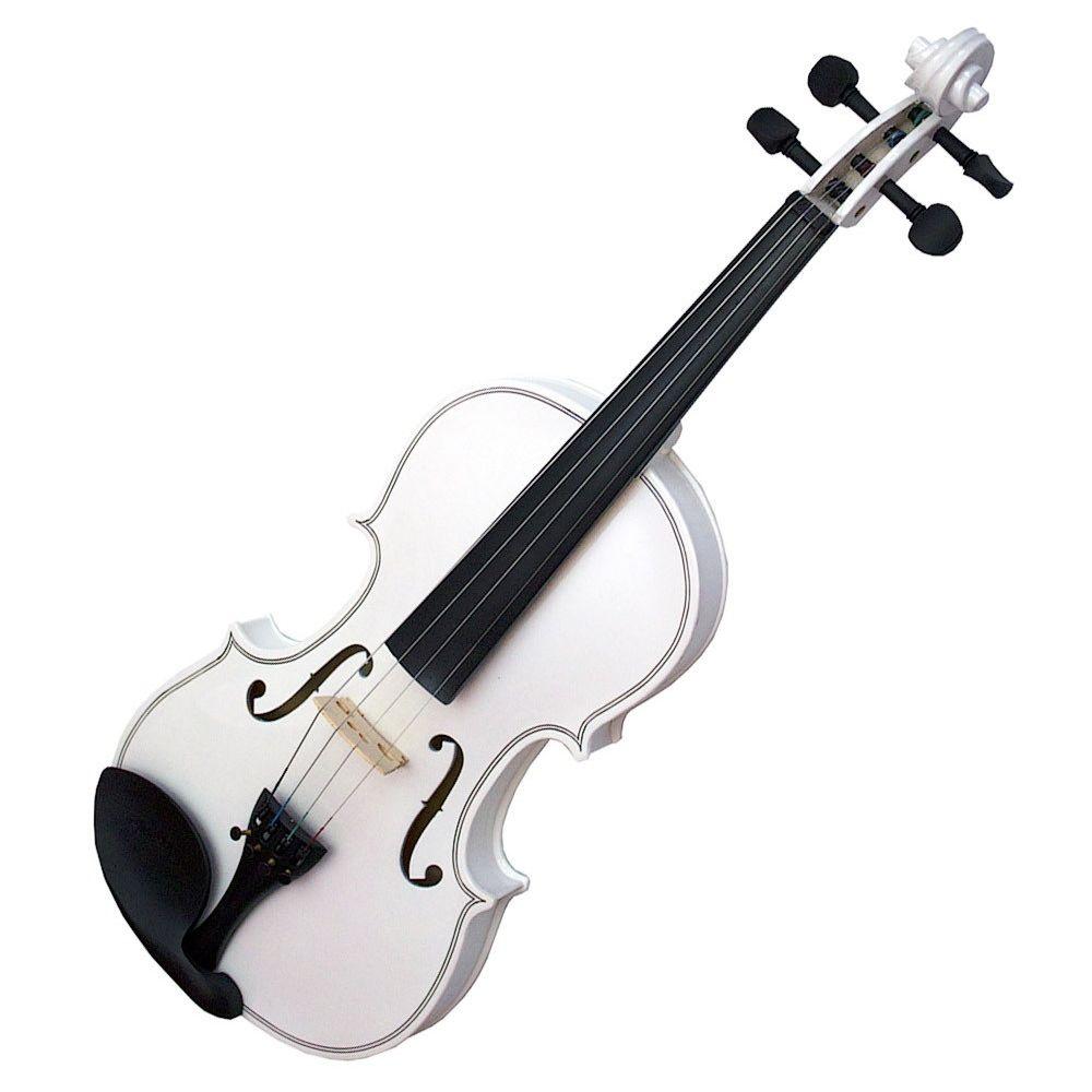 Violino Sverve 4/4 Branco  - TranSom Áudio e Música