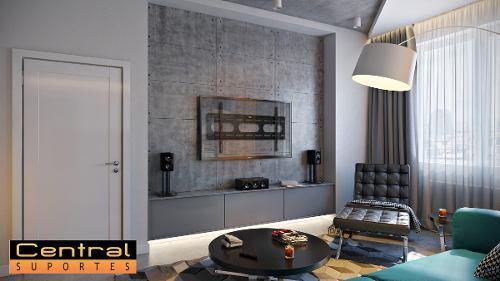 Suporte para TV Fixo de Parede LCD LED Plasma de 55 a 85 N01V8 ELG Telas Grandes  - Central Suportes