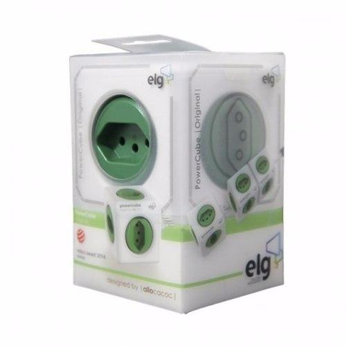 PowerCube Original PWC-R5 ELG Verde 5 Tomadas  - Central Suportes