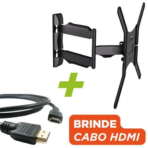 Suporte Tv Articulado 26 a 65 A02v4 ELG + Cabo HDMI Brinde  - Central Suportes