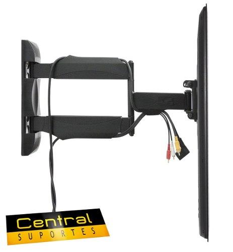 Suporte Articulado para TV de 26 a 55 A02V4 NEW ELG Preto  - Central Suportes