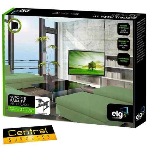 Suporte Articulado de parede para TVs de 32 a 75 A02V6 NEW 2 ELG  - Central Suportes