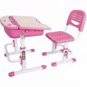 Mesa Infantil de estudo e desenho com Cadeira e baú C301 ELG Rosa