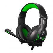 Headset Gamer Arena com Microfone Preto e Verde HGAR ELG