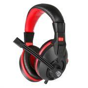 Headset Gamer Exodus com Microfone Preto e Vermelho HGEX ELG