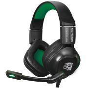 Headset Gamer Genesis com Microfone Preto e Verde HGGE ELG