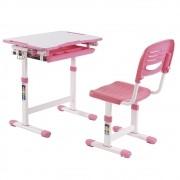 Mesa Infantil de estudo e desenho com Cadeira B201 ELG Rosa