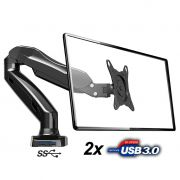 Suporte Monitor Articulado F90 USB ELG com 2 Portas 3.0