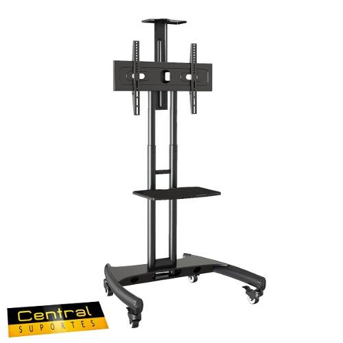 Pedestal para TV de 32 a 75 Suporte Videoconferência com rodízios A06V6 ELG  - Central Suportes