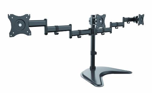 Suporte Articulado Mesa 3 Monitores 15 a 27 Ajuste de Altura e convergência T1236N ELG  - Central Suportes