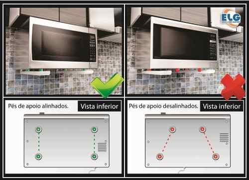 Suporte para Microondas Universal MW03 ELG Prata cor Inox  - Central Suportes