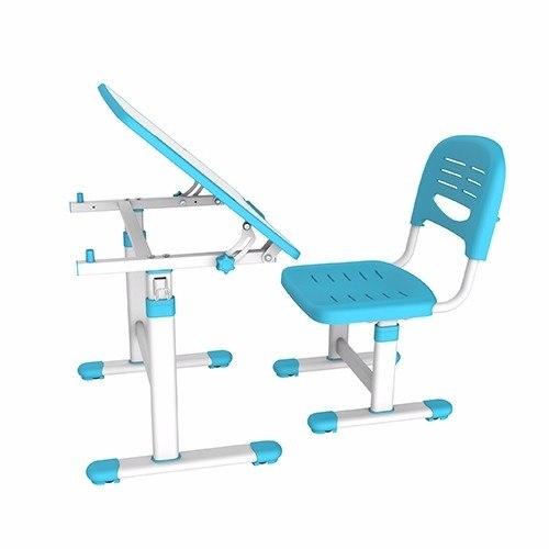 Mesa Infantil de estudo e desenho com Cadeira B202 ELG Azul  - Central Suportes