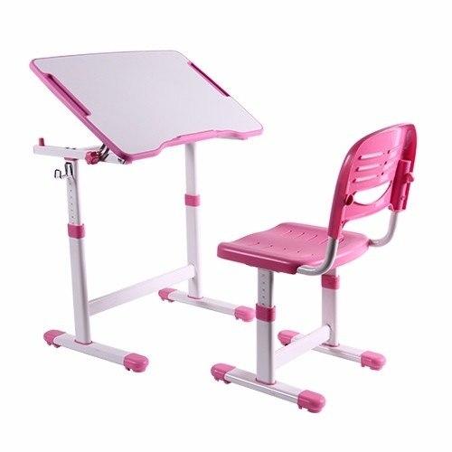 Mesa Infantil de estudo e desenho com Cadeira B202 ELG Rosa  - Central Suportes