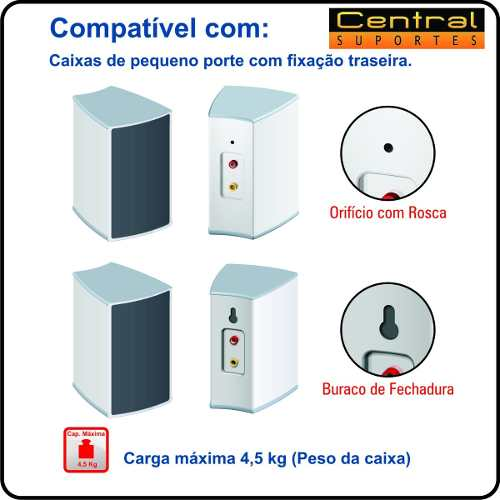Pedestal para Home Theater SR11 ELG Preto  - Central Suportes