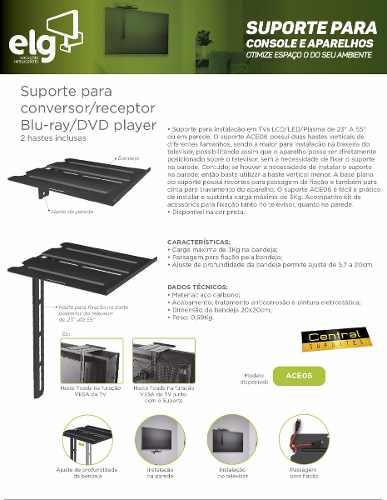 Suporte para DVD SKY NET Decodificador ACE06 ELG  - Central Suportes