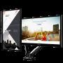 Suporte Articulado de Mesa para 2 Monitores 15 a 27 com Ajuste Altura e Pistão a Gás F160N ELG
