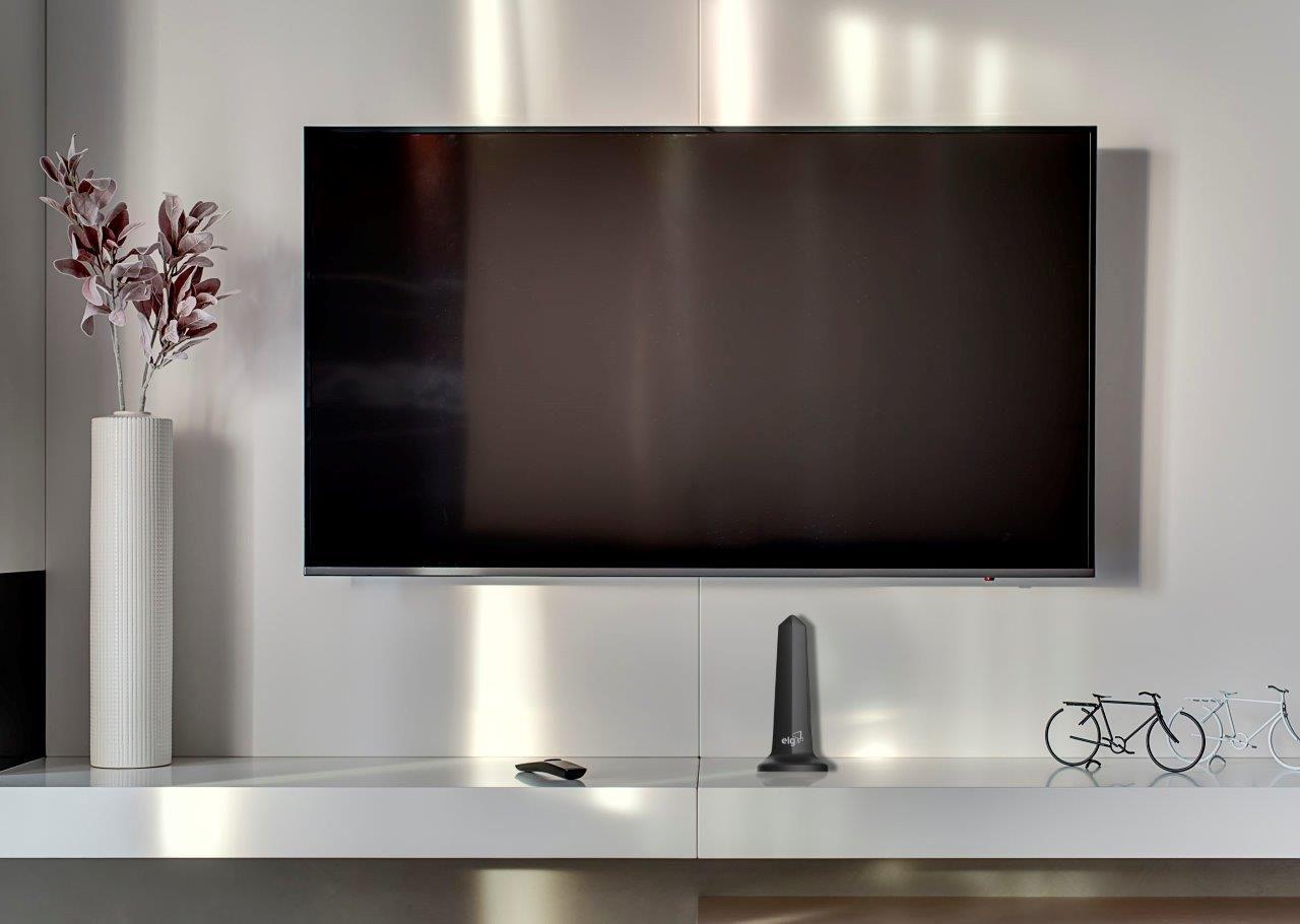 Antena Digital Interna Cabo 3m Shark HDTV-3000 ELG  - Central Suportes