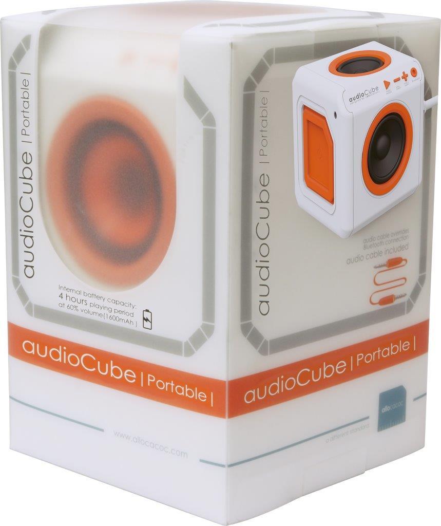 Caixa de Som Bluetooth audioCube 30W PWC-AUDWH ELG Branco/Laranja  - Central Suportes