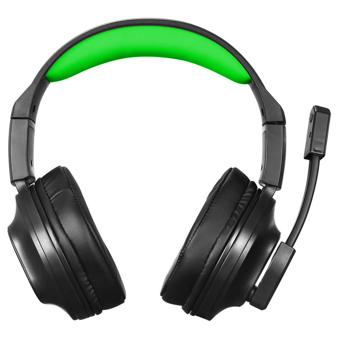 Headset Gamer Arena com Microfone Preto e Verde HGAR ELG  - Central Suportes