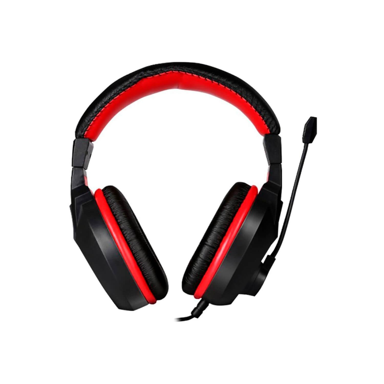 Headphone Gamer Exodus com Microfone Preto e Vermelho HGEX ELG  - Central Suportes