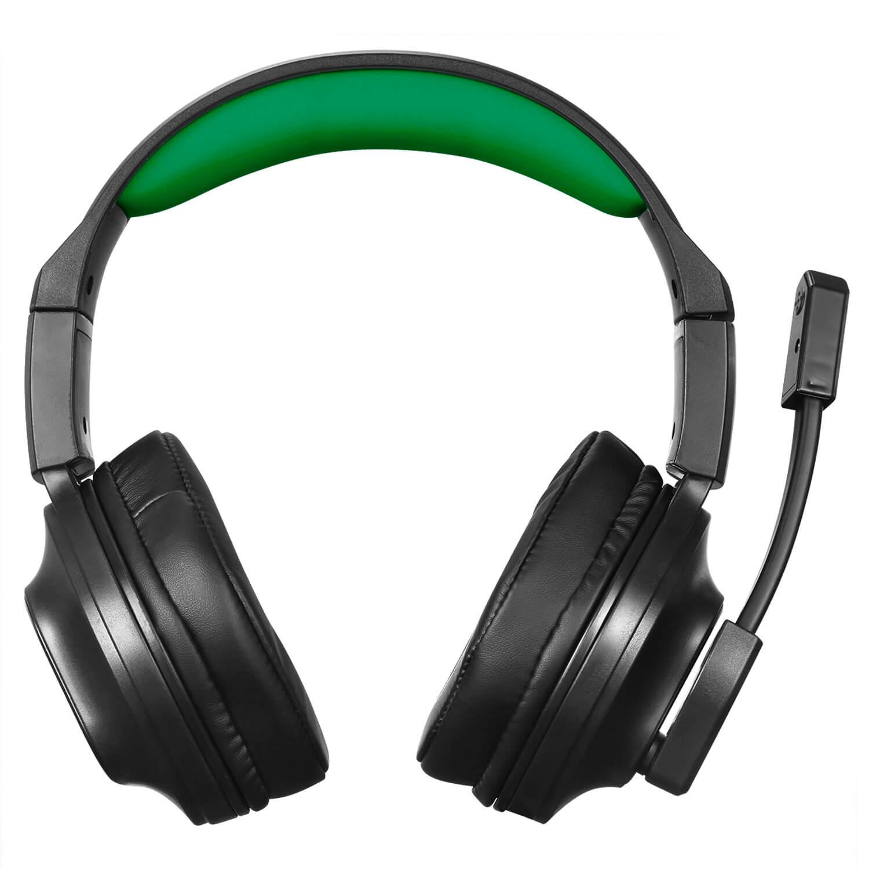 Headphone Gamer Genesis com Microfone Preto e Verde HGGE ELG  - Central Suportes