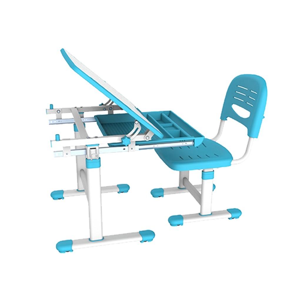Mesa Infantil de estudo e desenho com Cadeira B201 ELG Azul  - Central Suportes