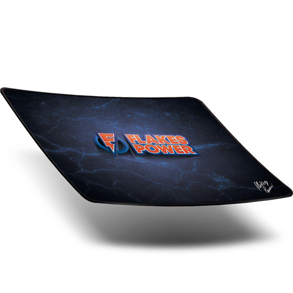 Mouse Pad Gamer Flakes Power Speed 36x30cm FLKMP001 ELG  - Central Suportes