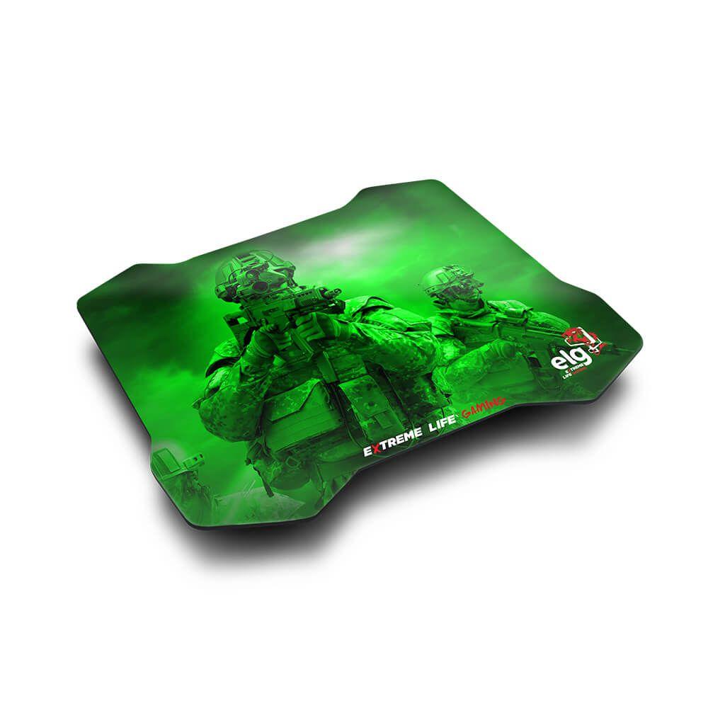 Mouse Pad Gamer Sense Control 30x23cm Verde MPSC ELG  - Central Suportes