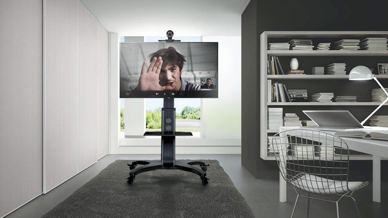 Pedestal para TV 32 a 65 Suporte Videoconferência com Rodízios A06-1551 ELG  - Central Suportes