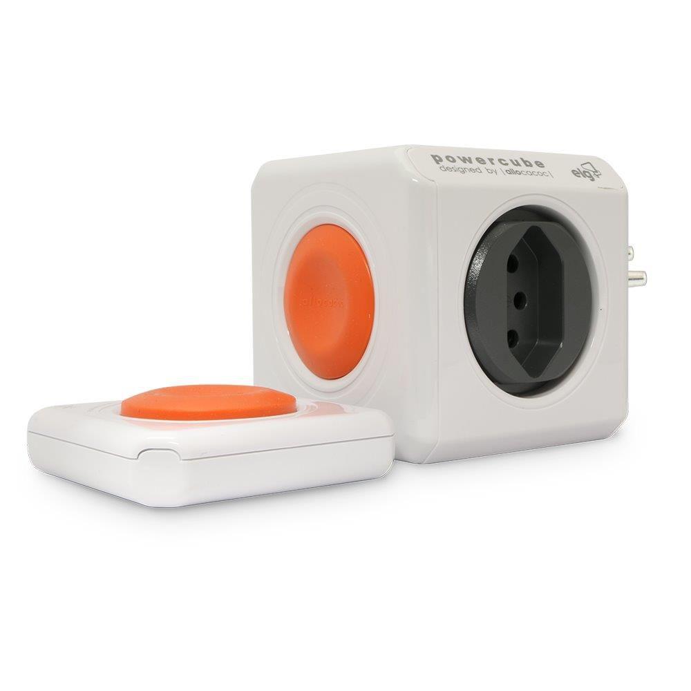 PowerCube Remote PWC-RM4CR com Controle Remoto e 4 Tomadas  - Central Suportes