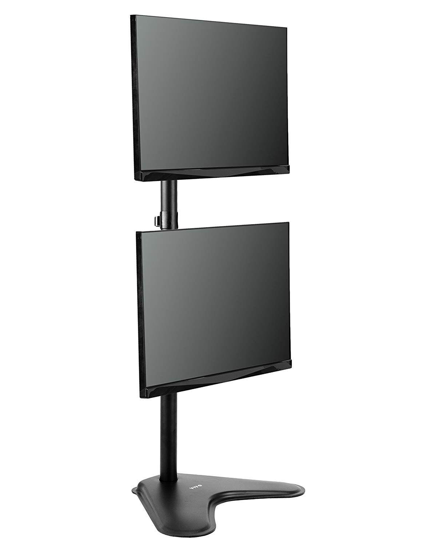Suporte 2 Monitores Vertical com Base V1224N ELG  - Central Suportes