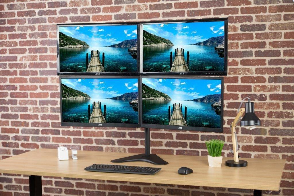 Suporte 4 Monitores com Base V48N Central Suportes  - Central Suportes
