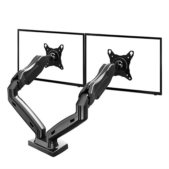 Suporte Articulado de Mesa para 2 Monitores 15 a 27 com Ajuste Altura e Pistão a Gás F160N ELG  - Central Suportes