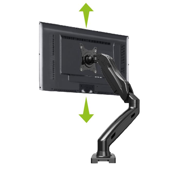 Suporte Articulado de Mesa para Monitor 15 a 29 com Ajuste de Altura e Pistão a Gás F80N ELG   - Central Suportes
