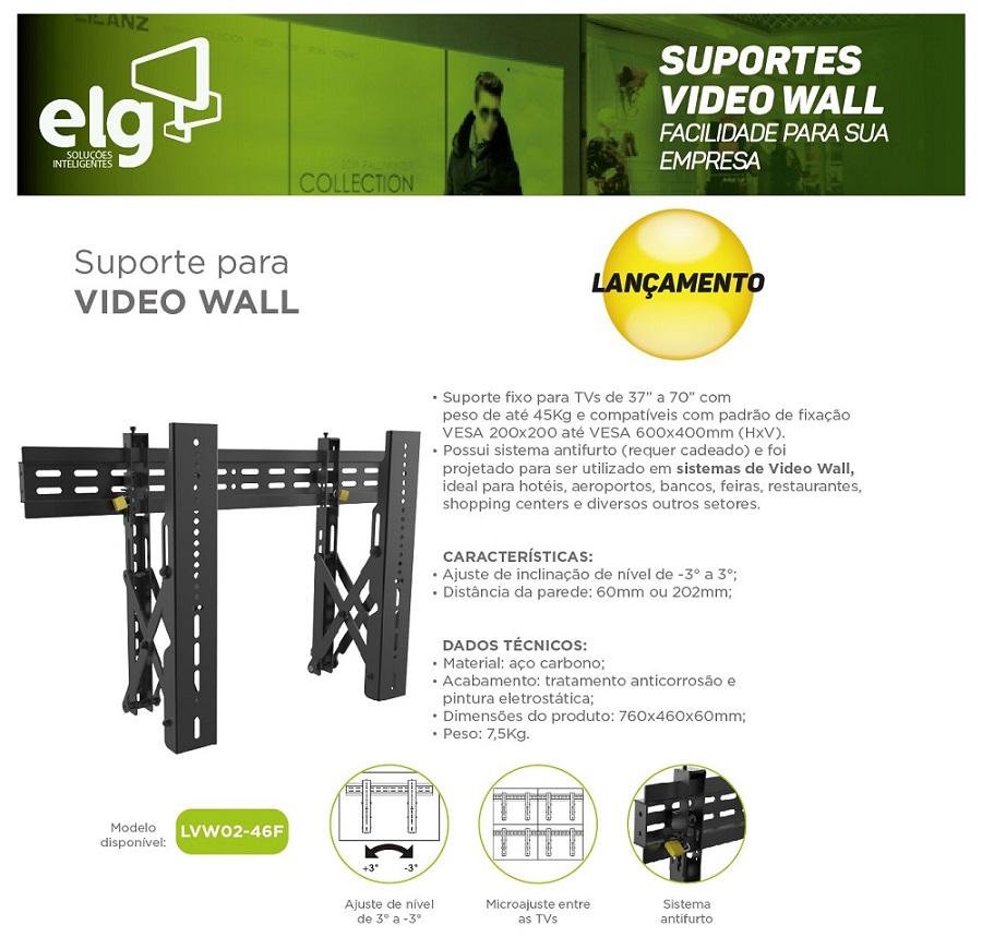 Suporte para Videowall TV 37 a 70 LVW02-46F ELG  - Central Suportes