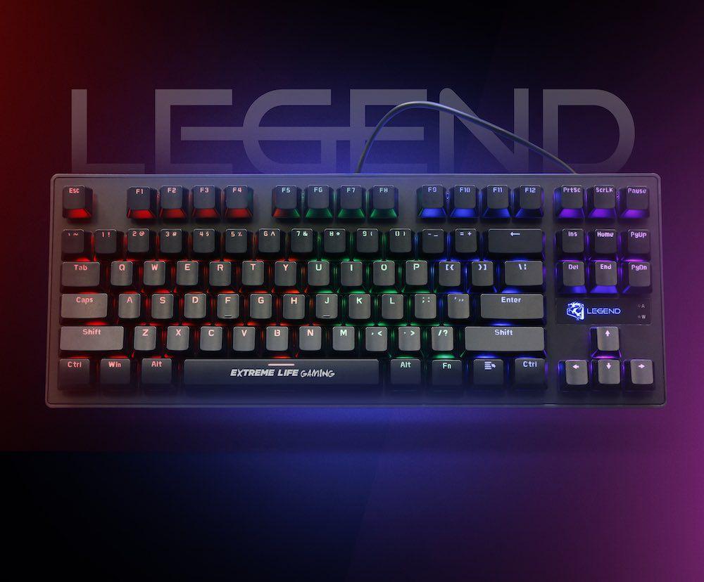 Teclado Gamer Mecânico 104 Teclas Led iluminado Legend TGML ELG  - Central Suportes
