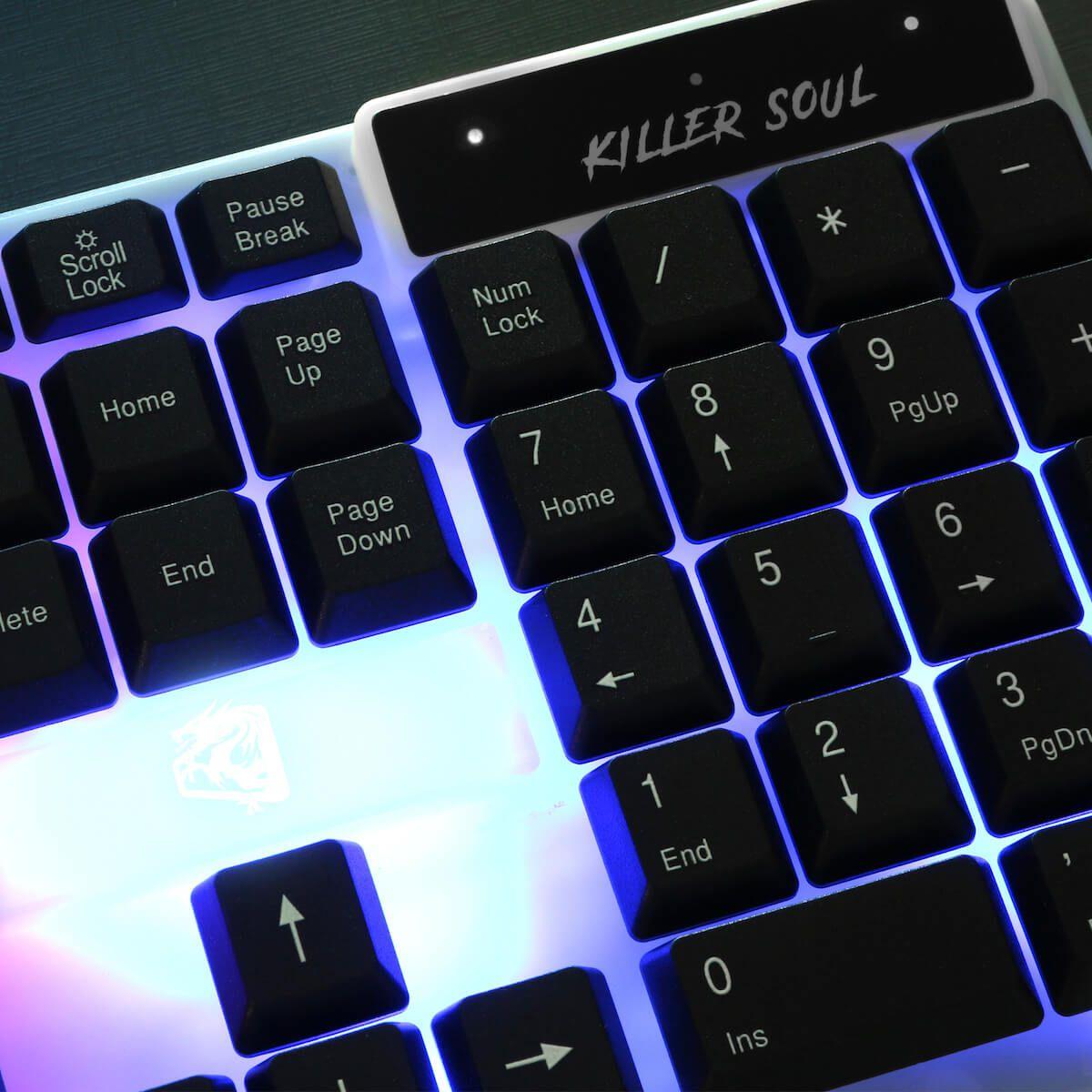 Teclado Gamer Membrana Tripla 114 Teclas iluminado Killer Soul TGKS ELG  - Central Suportes