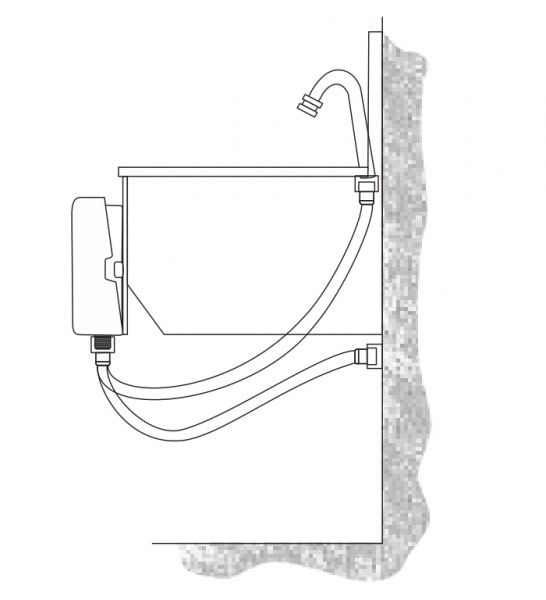Torneira de Pedal Pepratic Acionamento Joelho ou Coxa Válvula Mecânica Parede Balcão  - Central Suportes