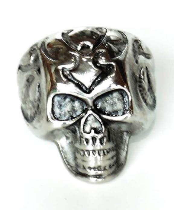 Anel Masculino Caveira Steel Skull
