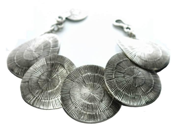 Pulseira prata Lascas de Coral