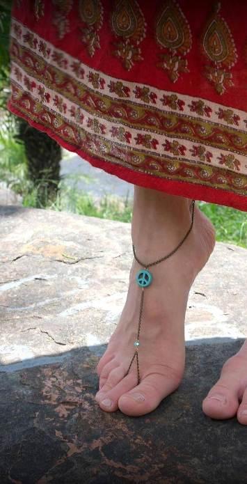 Tornozeleira Hippie Blue Stone