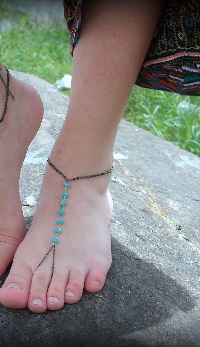 Tornozeleira Hippie Crystal