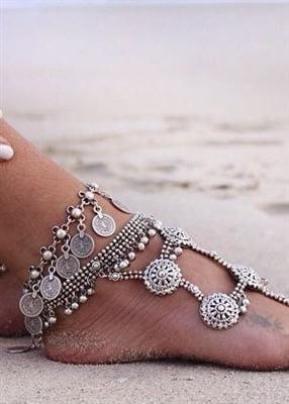 Tornozeleira prata Marina