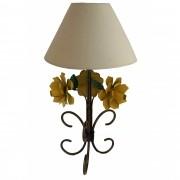 Abajur Iluminação de Quarto Simples com Flores Artesanal Rustico