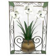 Quadro Artesanal com Flores para Quarto Confeccionado em Ferro Artesanato