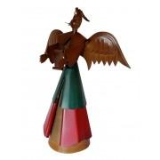 Anjinho de Natal Artesanal de Ferro para Decoração Natalina de Mesa